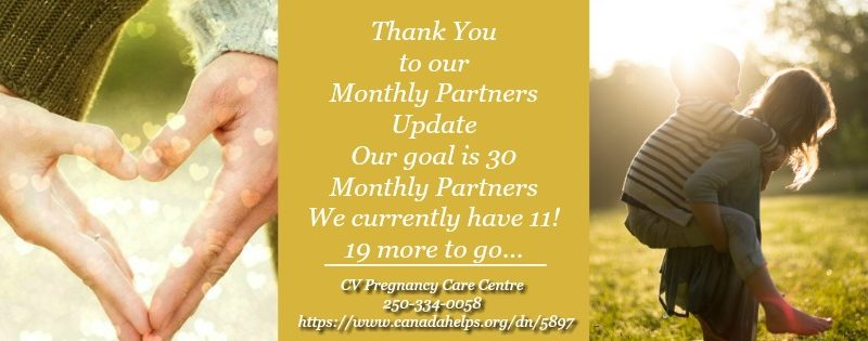 Monthly Partners FB thank you